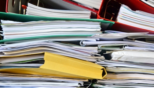 Piles of notebooks